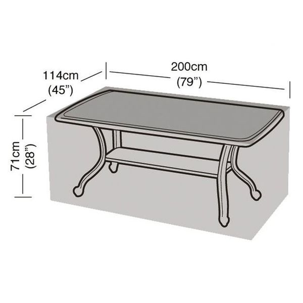 Garland 8 Seater Rectangular Table Cover - Dimensions
