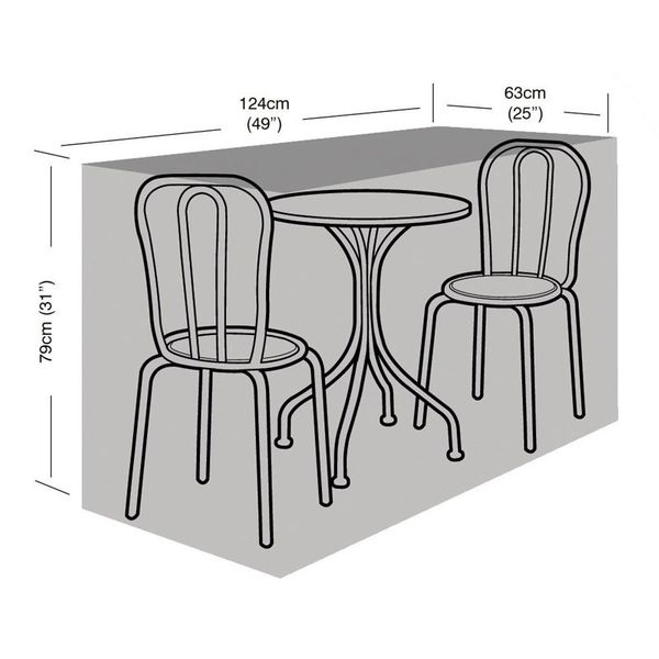 Garland 2 Seater Bistro Set Cover - Dimensions