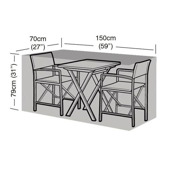 Garland Large Bistro Set Cover - Dimensions