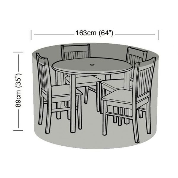 Garland 4 Seater Round Patio Set Cover - Dimensions