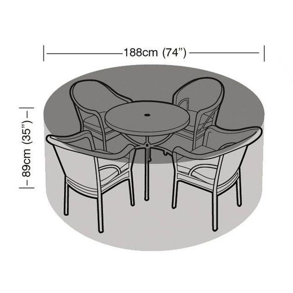 Garland 4-6 Seater Furniture Set Cover - Dimensions