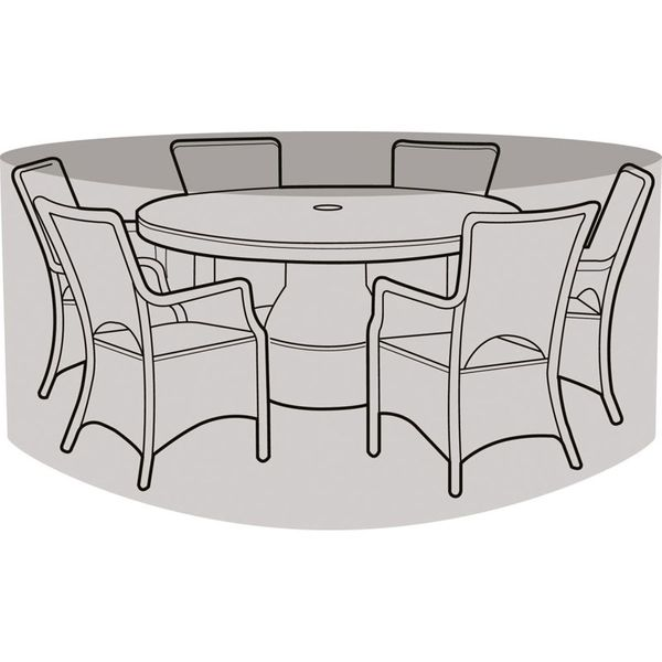 Garland 6-8 Seater Round Patio Set Cover - Cover over furniture