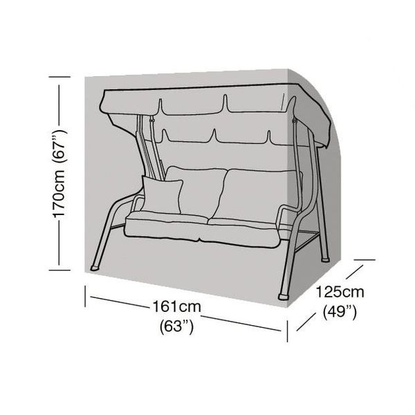 Garland 2 Seater Swing Seat Cover - Dimensions