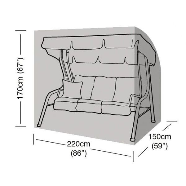 Garland 3 Seater Swing Seat Cover - Dimensions