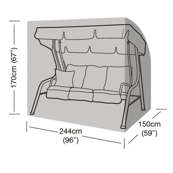 Garland 3-4 Seater Swing Seat Cover - Dimensions
