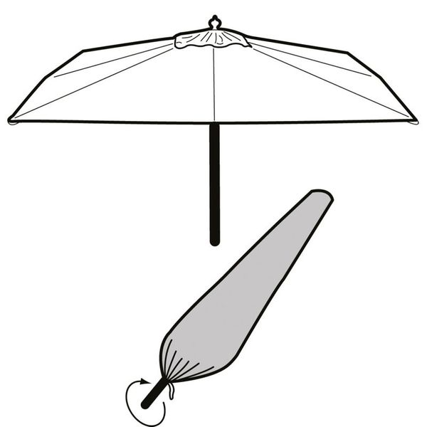 Garland Extra Large Parasol Cover - Cover over parasol