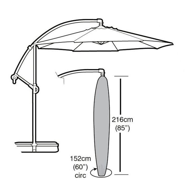 Garland Cantilever Parasol Cover - Dimensions