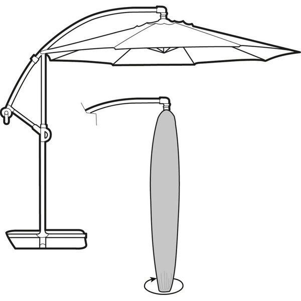 Garland Cantilever Parasol Cover - Cover over furniture