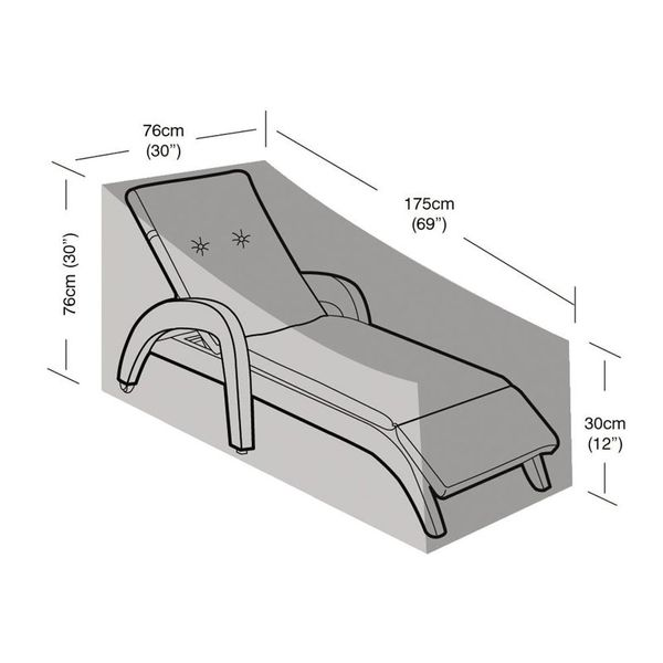 Garland Lounger Cover - Dimensions