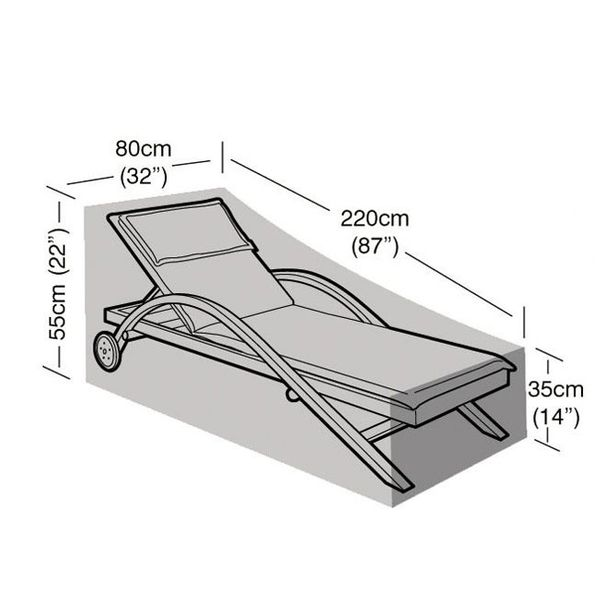 Garland Sunbed Cover - Dimensions