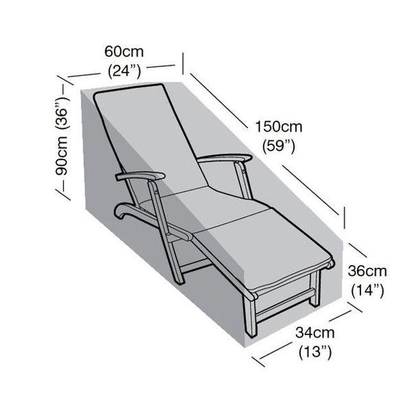 Garland Steamer Chair Cover - Dimensions