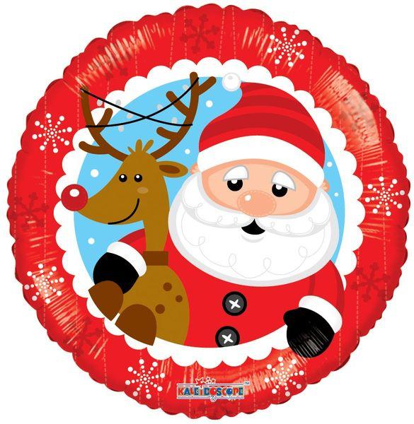 Santa & Reindeer Balloon