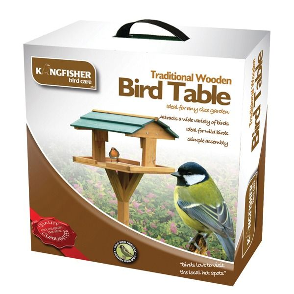 Kingfisher Traditional Wooden Bird Table