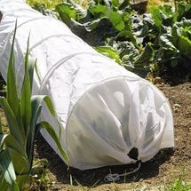 Gardman Tunnel Cloche With Fleece Cover - White 08771