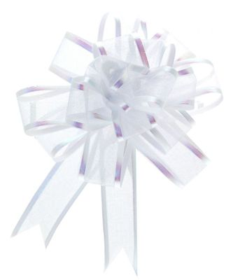 White Organza Pull Bow (25mm)