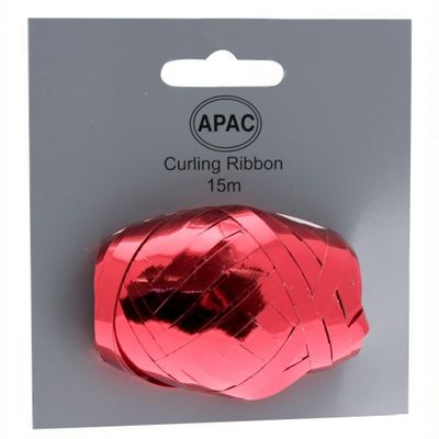 Metallic Red Ribbon Cop