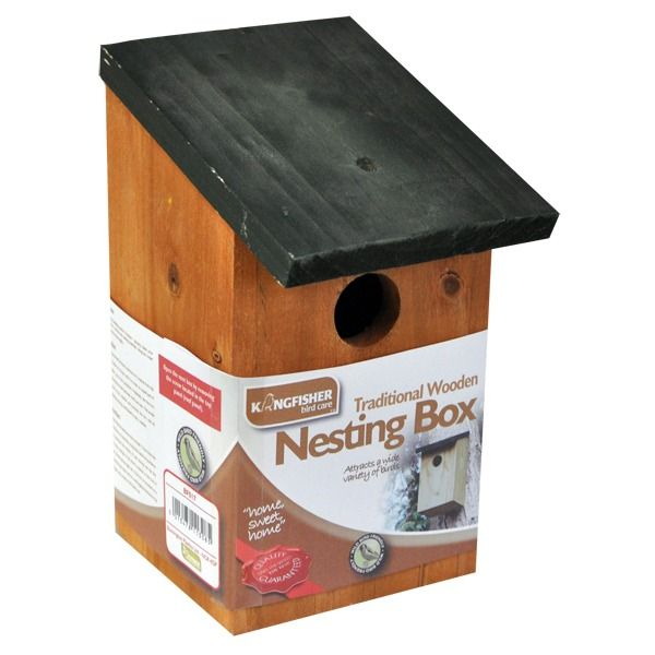Kingfisher Traditional Wooden Nesting Box