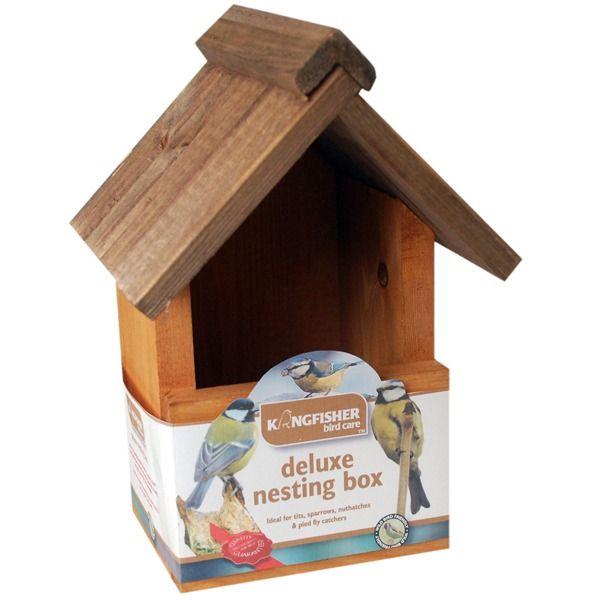 Kingfisher Deluxe Wooden Bird box