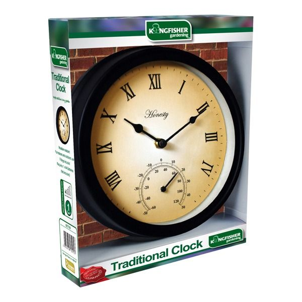 Kingfisher Garden Clock and Thermometer