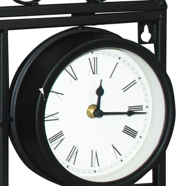 Decorative Wall Planter with Clock Thermometer