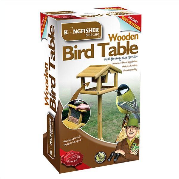 Kingfisher Wooden Bird Table