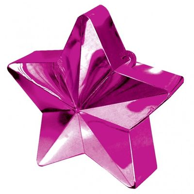 Hot Pink Star Balloon Weight