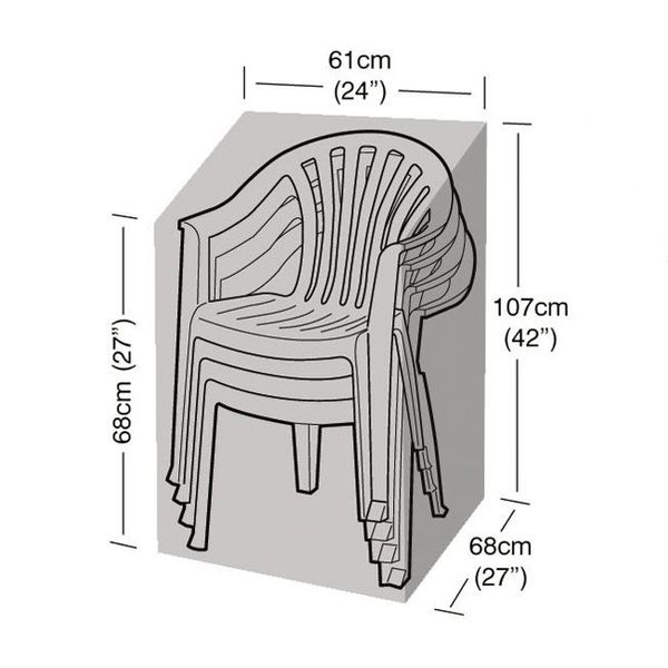 Garland Stacking Chair Cover - Dimensions