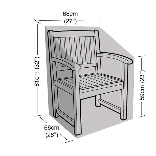 Garland Armchair Cover - Dimensions