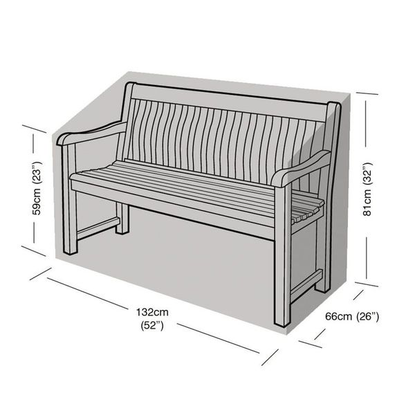 Garland 2 Seater Bench Cover - Dimensions
