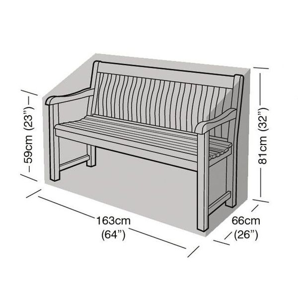 Garland 3 Seater Bench Cover - Dimensions