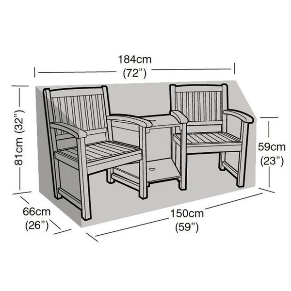 Garland Companion Seat Cover - Dimensions
