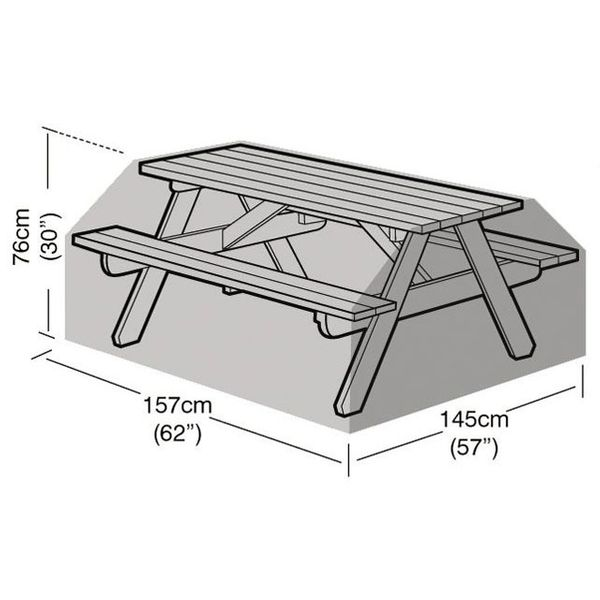 Garland 6 Seater Picnic Table Cover - Dimensions