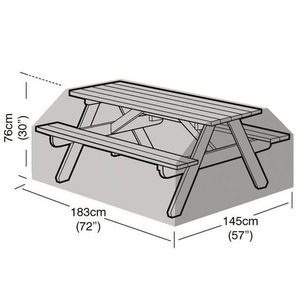 Garland 8 Seater Picnic Table Cover - Dimensions only