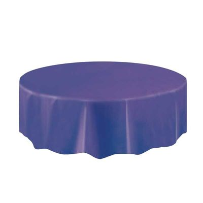 Purple Round Plastic Tablecloth