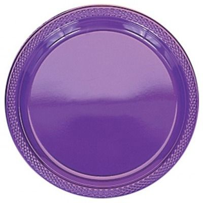 Purple Plastic Plates