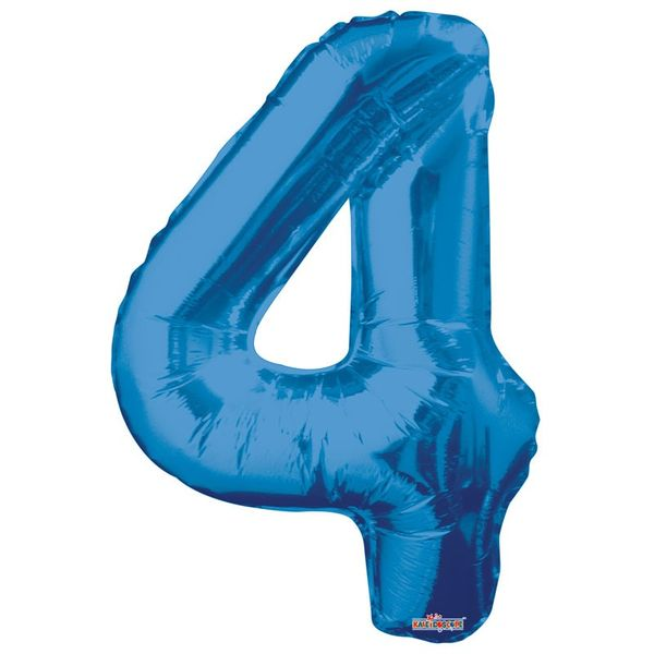 Blue 4 Big Number Balloon