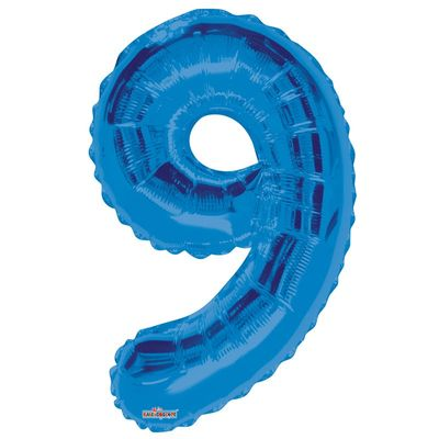 Blue 9 Big Number Balloon