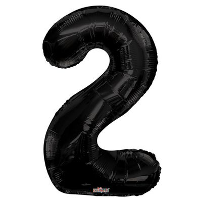 Black Foil Balloon - Age 2