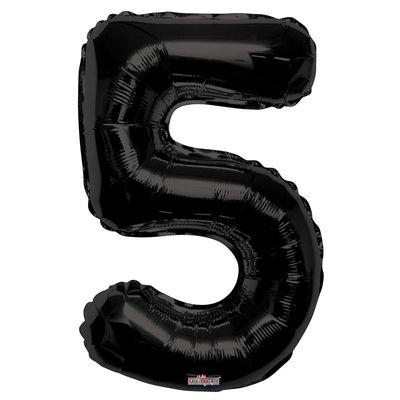 Black Foil Balloon - Age 5