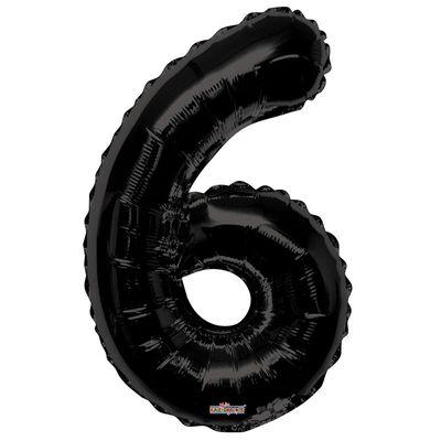 Black Foil Balloon - Age 6