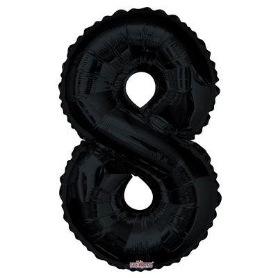 Black Foil Balloon - Age 8