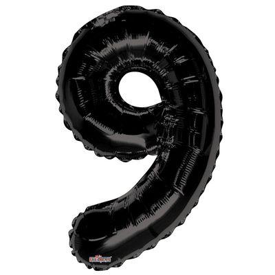 Black Foil Balloon - Age 9