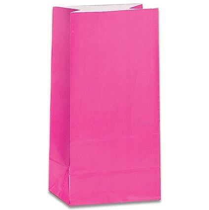 Bright Pink Paper Party Bags
