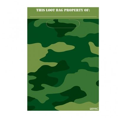 Camouflage Army Party Bags