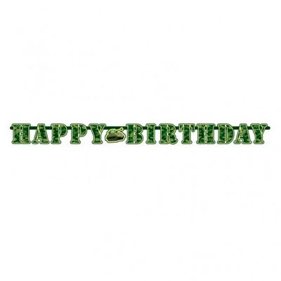 Camouflage Army Party Letter Banner