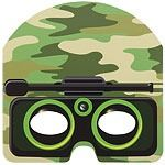 Camouflage Army Party Masks