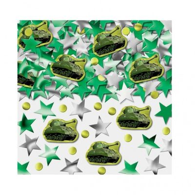 Camouflage Party Table and Invite Confetti
