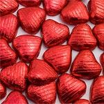 Chocolate Hearts - Red