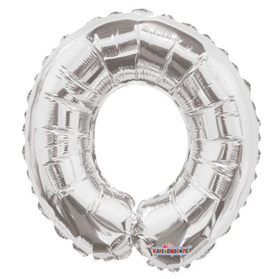 Silver 0 Foil Balloon