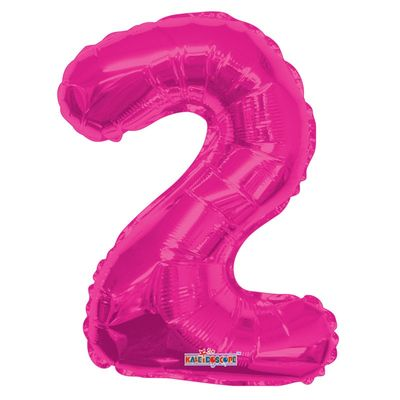 Hot Pink Number 2 Balloon